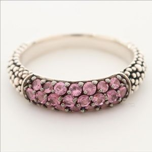 Michael Dawkins pink sapphire sterling silver ring